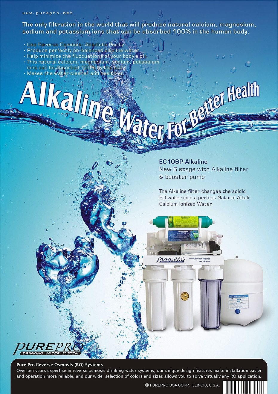 Purepro 174 Alkaline Reverse Osmosis Water Filter Systems