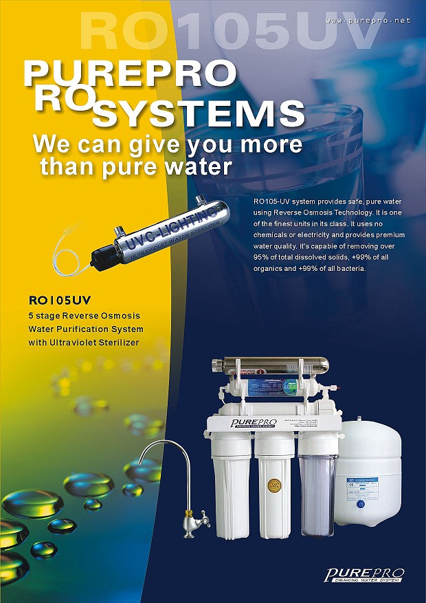 Purepro 174 Ro105 Uv Reverse Osmosis Water Filter Systems