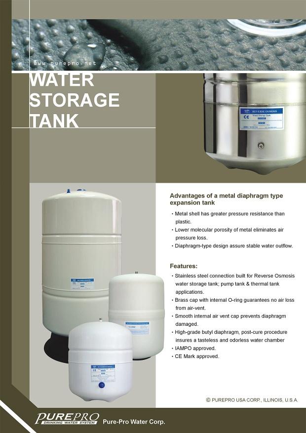 Purepro 174 Reverse Osmosis Ro 132 Ro 122 Water Storage Tanks
